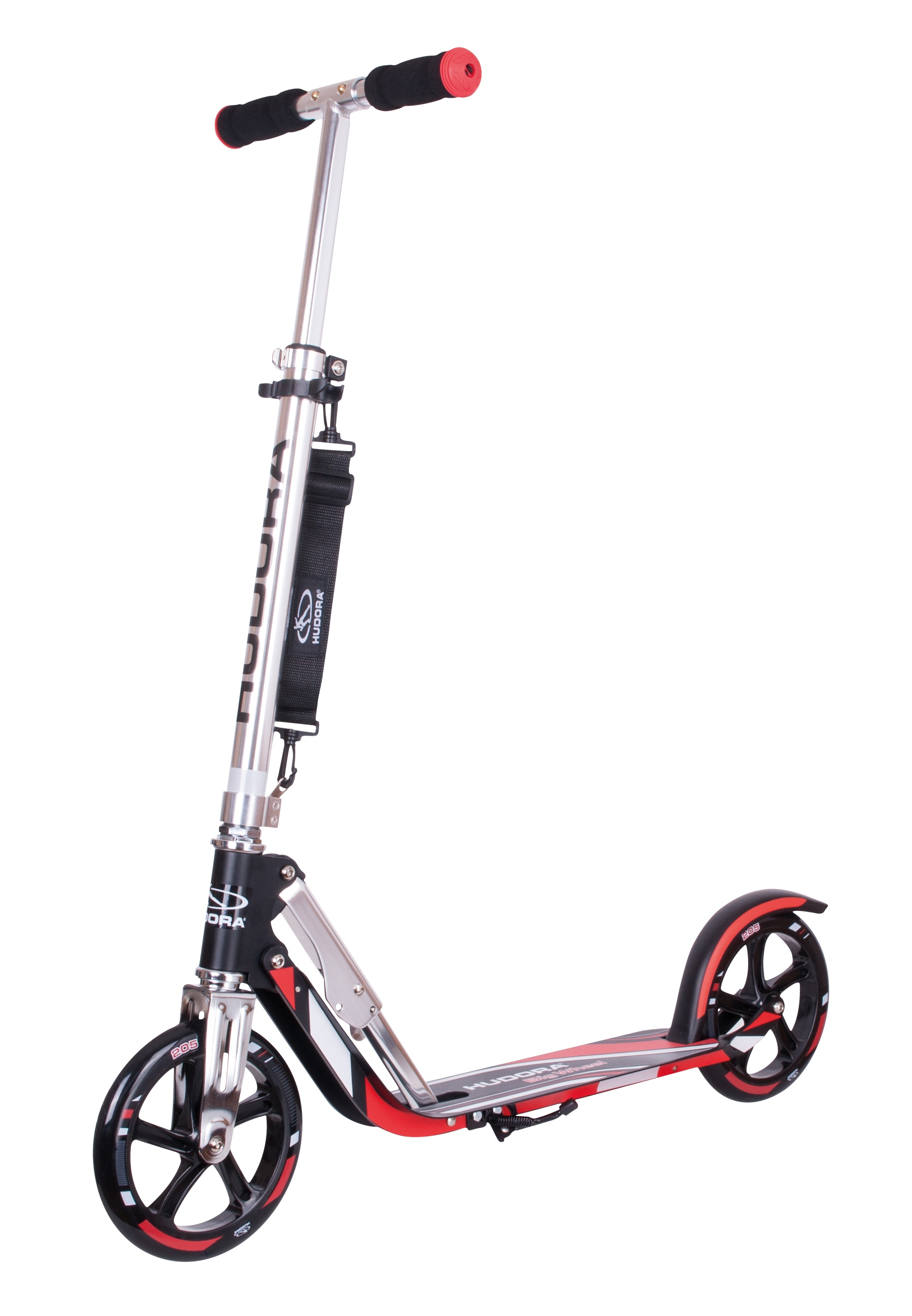 Самокат HUDORA Big Wheel 205 black/red (14724)