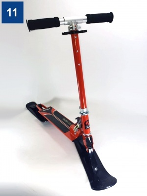 Самокат-снегокат Stiga Bike Snow Kick Cross Оранжевый (75-1118-73d) дисконт