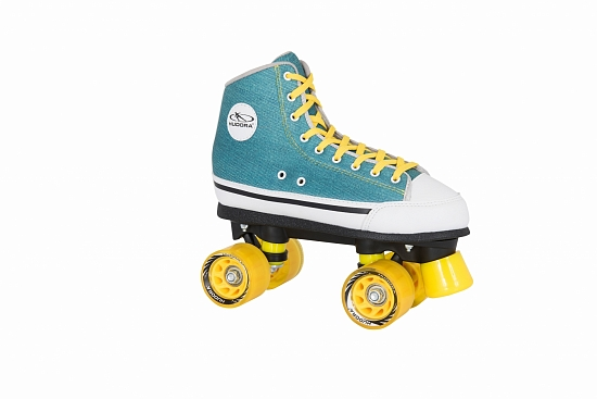 Ролики HUDORA Roller Skates Green Denim 38 (13032)